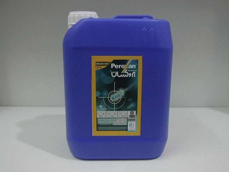 محلول ضد عفونی کننده جهت امحا زباله های بیمارستانی 15% پروکسان 5 لیتری(ناموجود)